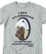 I met Li'l Sebastian T-shirt Parks and Recreation comedy TV graphic tee NBC481 image 3