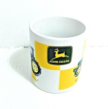 John Deere Tractor White Yellow Coffee Tea Mug Cup Nothing Runs Like a D... - $12.95