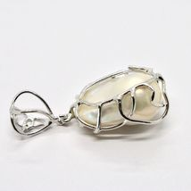 925 Silver Pendant Pearl White Baroque Handcrafted Unique Pendant image 6