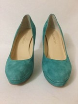 Ivanka Trump Kimo Turquoises Suede Women's Platform High Heels Pumps Size US 6 M - $49.50