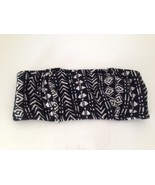 Aeropostale Black and White Bold Pattern Strapless Bandeau Tube Top Junior M - $11.65
