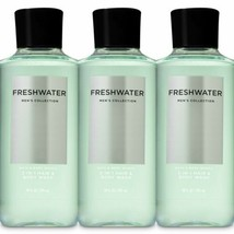 3 Pc Bath & Body Works Freshwater Men's Collection 3 in 1 Body Wash Set New - $28.04