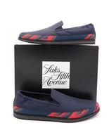 NIB Prada Mens Blue Nylon Logo Slip-On Sneaker Shoes 9.5US 8.5UK  $530 - $295.00