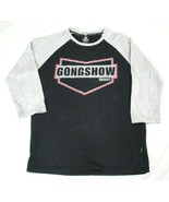 Gongshow Hockey Apparel Mens T-Shirt Size Large Black Gray 3/4 Sleeve NWOT - $19.79