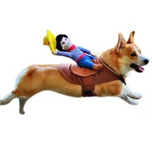 Dog Costume Pet Clothes Halloween Riding Horse Cowboy Party Puppy Rider - €13,90 EUR