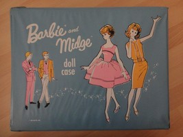 Vintage Barbie Midge Blue Double Wide Carry Case Mattel 1963 - $27.32