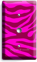 Hot Pink Zebra Stripe Animal Print Light Dimmer Cable Wall Plate Room Home Decor - $10.79