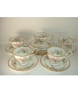 Royal Albert Moss Rose pattern cups saucers B&B plates 15 pieces - $52.49