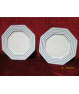 Fitz & Floyd Blue Pin Stripe set of 2 dinner plates - $19.75