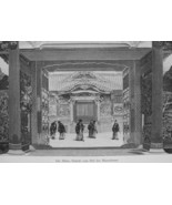 JAPAN Entrance to Mausoleum at Shiba  - 1882 Wood Engraving - $19.80