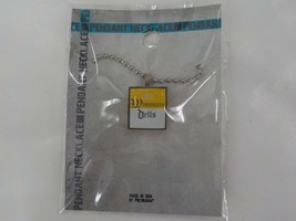 WISCONSIN DELLS YELLOW & WHITE CHARM NECKLACE SILVER COLOR CHAIN FASHION... - $17.99
