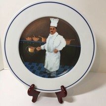 """Chef Jean-Claude Dinner Plate William Sonoma Chef Series Guy Buffet 11"""" - $17.41"""