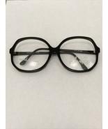 Vintage New Europa Liz Black Oversize Plastic Glasses Elizabeth Taylor 6... - $25.00