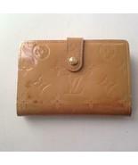 Louis Vuitton, Vernis Mono, Tan Compact Wallet-Coin Purse 4in x 4in(MI0098) - $142.45