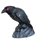 Large Animated RAVEN HEAD TURNING with SOUND LED Black Crow Halloween Pr... - $34.93