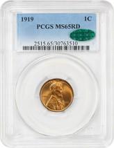 1919 1c PCGS/CAC MS65 RD - Nice Gem - Lincoln Cent - Nice Gem - $266.75