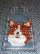 Brand New Handmade Needlepoint Corgi Door Hanger For Dog Rescue Charity - $15.11