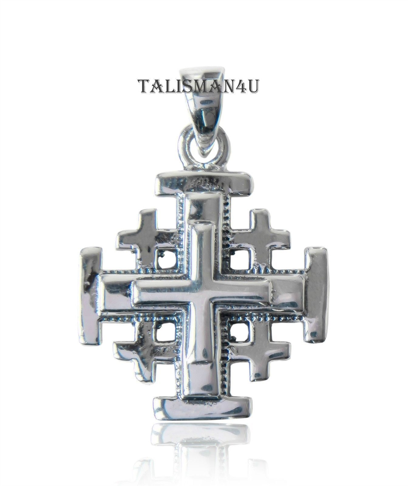 room property pendant charmpendant l marked jerusalem solid silver stone charm with center exquisite faceted pink sterling cross