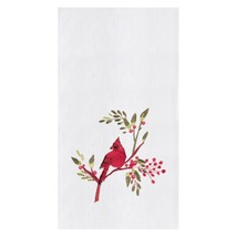 Red Cardinal On Berry Branch Embroidered Flour Sack Kitchen Dish Towel - $23.76