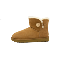 UGG Mini Bailey Button II Womens Chestnut Winter Boots Size 11 Authentic - $123.49