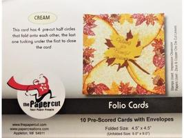 Folio Cards, Pre-Cut and Scored, Set of 10 with Envelopes, Cream image 3