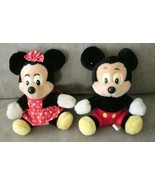 Mickey Mouse and Minnie Mouse Disney stuffed animal unisex - $24.99