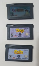 GBA Video Game Lot - Dora The Explorer, Cats, Dogs - 3 Game Boy Advance ... - $9.85