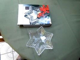 MIKASA DIAMOND FIRE STAR SHAPED SWEET DISH #QQ254/502  NEW IN BOX - $5.93