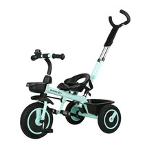 Kids Pedal Trike Push Handle Bike Toddlers Ride 3 Wheels On Toy Tricycle - $183.49
