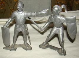 """Vtg 1964 MARX 6"""" Medieval Knight Set Lot 2 Plate Armor Toy Soldiers Very... - $20.00"""