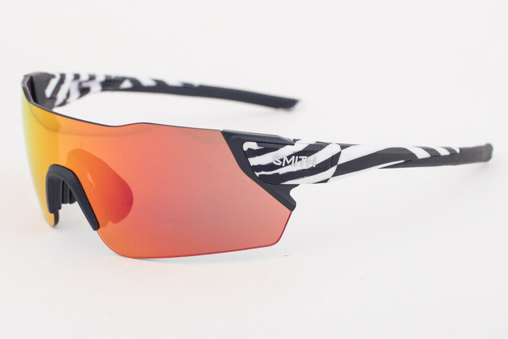 Primary image for Smith ATTACK X6 3 S37 White Black Pattern / Red Mirror / Rose Lens Sunglasses