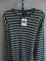 NWT  MENS SADDLEBRED L/S COTTON BLEND THERMAL STYLE TEE SHIRT OLIVE & TA... - $10.39