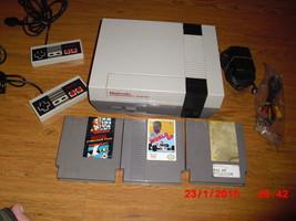 Nintendo NES System W 3 GAMES MARIO/DUCK HUNT,WORLD GP AND BASEBALL STARS - $108.89