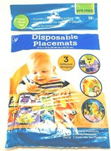 Disposable Placemats 20 count 3 designs 12 x 18 Children Toddlers Baby - $9.06