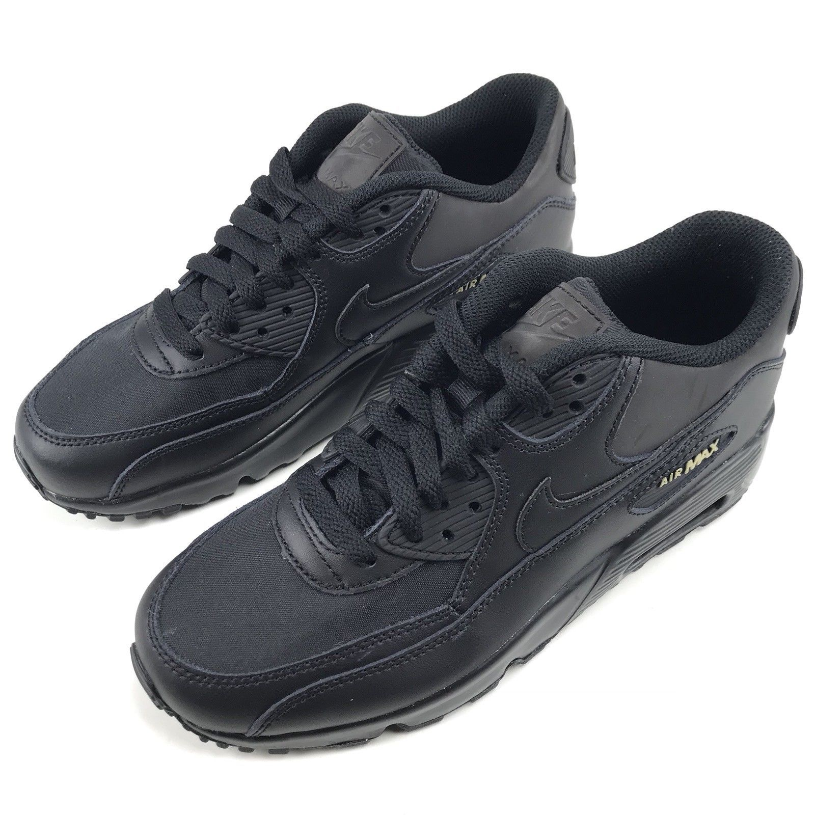 buy online 49171 372cd Nike Air Max 90 Premium Women s Size 7   Boys Size 5.5Y Black Gold AH9345