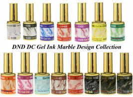 DND DC Gel Ink Marble Design PICK YOUR COLOR LED/UV 6oz 18ml  - $13.99