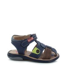 Boy's Rilo Leather Navy Blue Fisherman sandal (Baby/Walker/Toddler) - $28.99