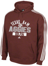 Texas A&M Aggies 3-Stripe hooded sweatshirt  Adidas NWT SEC 12th Man 2XL - $37.49