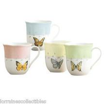Lenox Butterfly Meadow Mugs, SET OF 4 NEW  - $49.49