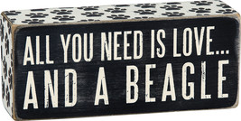 All You Need is Love ... and a Beagle Box Sign Primitives Kathy  - $10.95