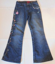 Lee Blue Jean Floral Sure 2 Fit Adjustable Waist Jeans Size 10R Brand New - $9.49