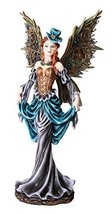 12 Inch Steampunk Dressed to The Nines Fairy Statue Figurine - $49.90