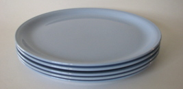 1950s Dinner Plates Blue Skytone Set of 5 Blue HLC Undecorated - $99.00
