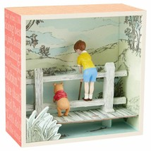 Hallmark Winnie the Pooh Shadow Box Best Friends on a Bridge Christopher... - $17.63