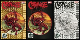 Carnage 1 Phantom Variant Collection Phantom Color Gold Sketch 3 Covers Symbiote - $99.00