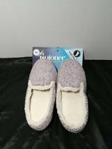 Isotoner Lined Slippers Memory Foam Slip On Rubber - $25.00
