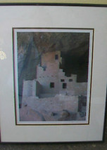 FRAMED PHOTOGRAPH PRINT OF MESA VERDE CLIFF FACE, BY MATTHEW CHALOM - $111.37