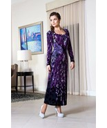 PARTY DRESS LONG SLEEVE Wedding Cocktail Evening Occasion Purple Dress S... - $98.00