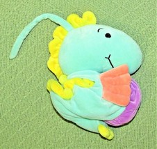 Manhattan BABY MUSICAL SEAHORSE Toy Plush Stuffed Crib Toy Teal Green Pu... - $19.80