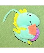 Manhattan BABY MUSICAL SEAHORSE Toy Plush Stuffed Crib Toy Teal Green Pu... - $19.80